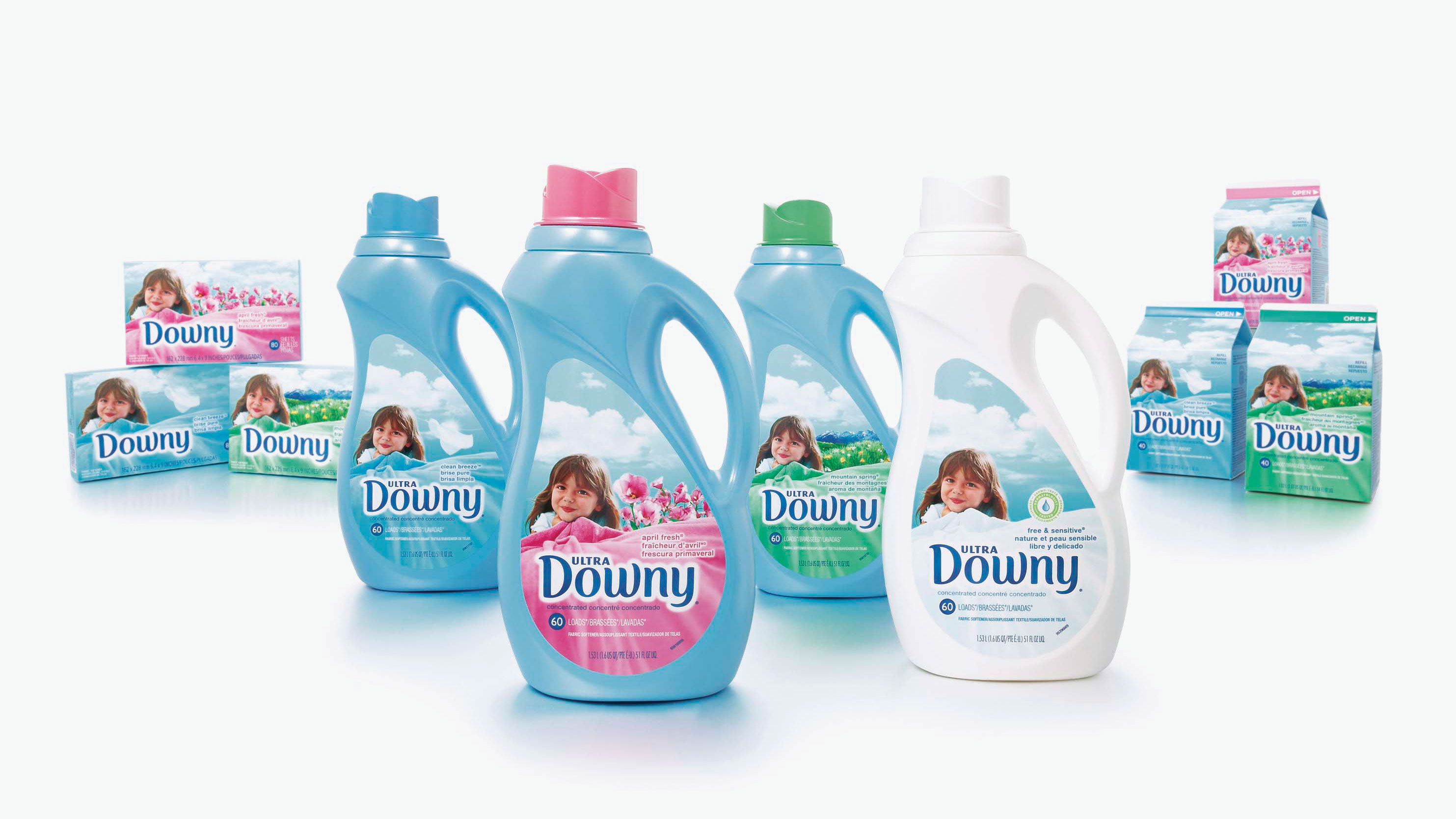 Downy packaging