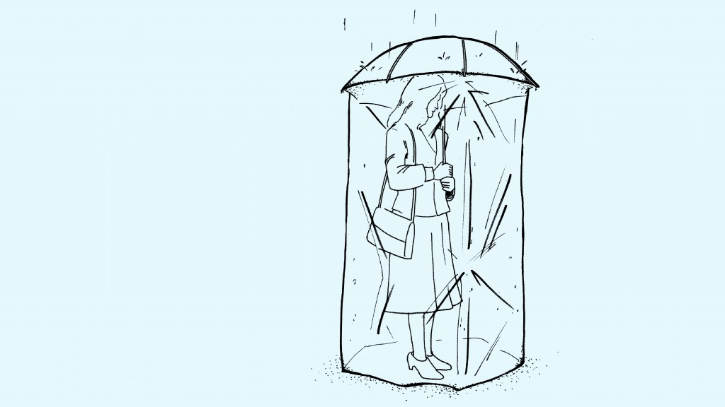 Fig 3.0 Shower-Me-Not: Protect yourself from rain, puddles, and even germs. You can't be too careful.