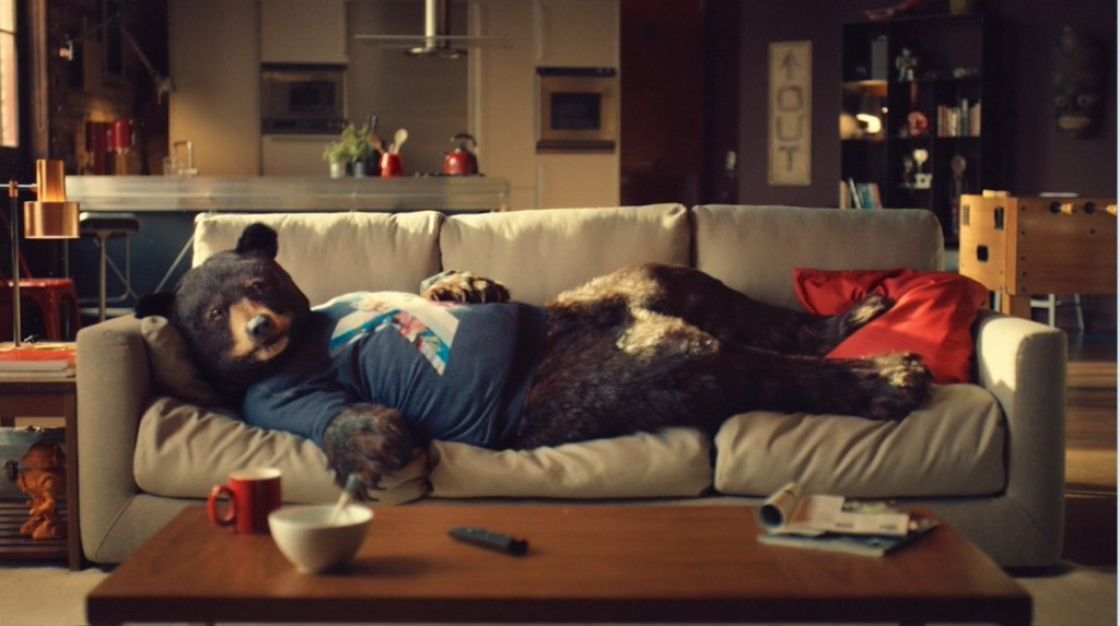 Virgin Media's irreverent ad campaigns include animal archetypes, like Ed the Sofa Bear, that celebrate the different ways people watch TV.