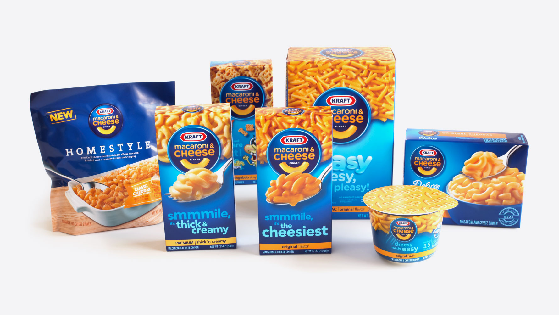 We restructured Kraft Macaroni & Cheese's brand architecture to unify its portfolio and optimize marketing spend.